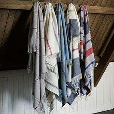 We love these throws! Made in conjunction with a Minnesota mill that has been operating since 1865, these wool throws ($129) are pure Americana. We can easily imagine them in a cabin, folded at the end of the bed or on a chair near a fire.