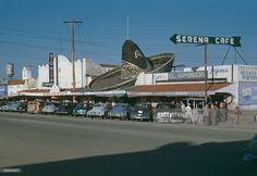 A street scene in Tijuana, Mexico, circa 1960.
