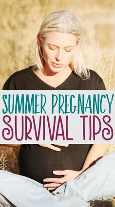 Being pregnant in the summer is not fun, especially if you're in your second or third trimester. Here are a few tips to make the most of this time and hopefully enjoy the summer as much as possible.