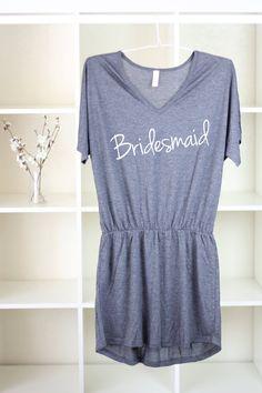 Bridesmaid Gift - Gray Bridesmaid Dress - Will You Be My Bridesmaid - Bridesmaid Dress Short - Bridesmaid Shirts - Gifts For Bridesmaids
