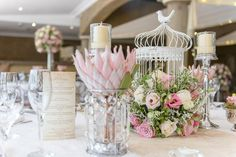 Pink, blush and cream wedding reception table details with stunning King Protea // Lightburst Photography - ethereal South African wedding Wedding Guest List, Wedding Reception Tables, Wedding Blog, Our Wedding, Wedding Ideas, Wedding Candy, Wedding Album, Wedding Inspiration, Protea Wedding