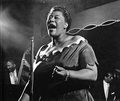 Ella Fitzgerald in concert, Basin Street, New York City, 1954