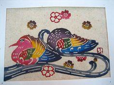紅型:芭蕉紙(おしどり)