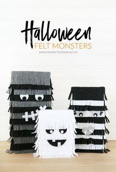 Halloween Felt Monsters  | #MakeItFunCrafts