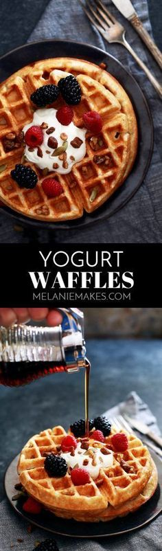 These Yogurt Waffles get their rich and delicious taste from whole milk yogurt and butter and have a heartier bite thanks to a combination of white and whole wheat flours. With a crisp exterior and a light and fluffy interior, these are sure to become a breakfast favorite! AD