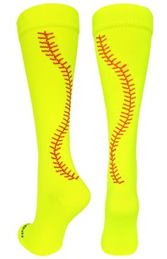 MadSportsStuff Crazy Softball Stitch Socks, Softball gifts, Softball, Softball Socks
