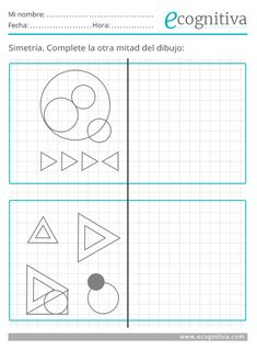 Praxias - Estimulación cognitiva Visual Perception Activities, Occupational Therapy Activities, Kids Math Worksheets, Math For Kids, Alphabet, Teaching, Education, Cognitive Activities, Learning Disabilities