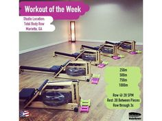 Enjoy this week's workout! Studio location: Total Body Row in Marietta, GA - For more information on this studio, please visit: www.totalbodyrow.com Questions? Email: Info@waterrower.com #WRWOTW #Waterrower #RowWithTheFlow Row Row Row, Row Row Your Boat, The Row, Rower Workout, Rowing Machines, Orange Theory Workout, Sweat It Out, Total Body, At Home Workouts