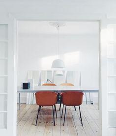 Muuto, dinning room inspiration fiber  chair and ambit pendant lamp