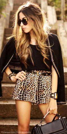 Leopard Street Style   FashionCoolture