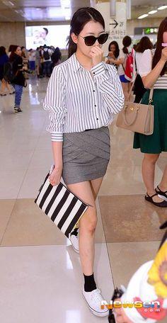Official Korean Fashion Blog: Sunmi Airport Fashion