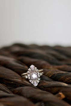 Vintage antique diamond engagement ring