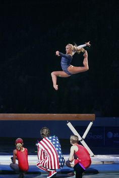 Nastia Liukin performs on the beam during Kellogg's Tour Of Gymnastics Champions at the Maverik Center in West Valley City on Thursday, Sept. 27, 2012. (Chris Detrick  |  The Salt Lake Tribune)
