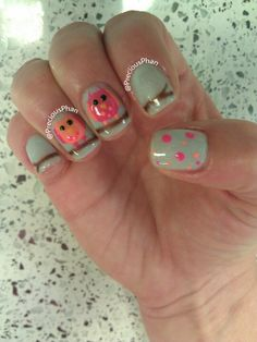 Owls, nails. Cute Oao nails but I would never wear that