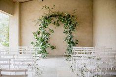 Wedding day greenery