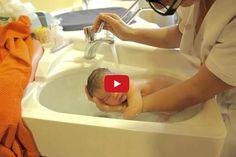 newborn bathing