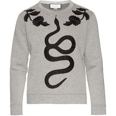 Gucci Snake-Applique Cotton-Jersey Sweatshirt as seen on Zayn Malik