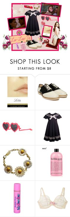 """Lo-Lee-Ta"" by emmamaree ❤ liked on Polyvore featuring Nook, Bass, Linda Farrow, philosophy, Haze, Agent Provocateur, oxford shoes, bubble gum, lana del rey and lolita"
