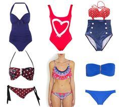 4th of July swim wear
