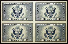 #771 16c 1935 Farley Imperf Center Line Block of 4 VF-XF MNH - Giant Rare Stamp Sale - http://stores.ebay.com/Little-Art-Treasures