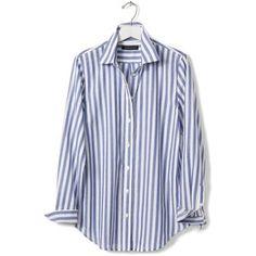 Banana Republic Womens Dillon Fit Vertical Stripe Shirt