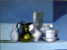 """Saatchi Online Artist Sharon Furman; Painting, """"Blue Kitchen"""" #art"""