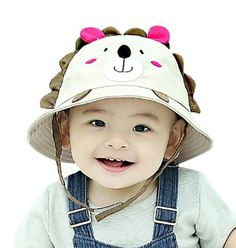 bbabeb7c8dc Lean In Little Lion Baby Sun Hat Outdoors Hat Baby Sun Hat