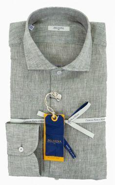 Delsiena 2537 30 Linen Shirt Olive - £75 with FREE UK Delivery #Linen #Mens #Fashion #Delsiena #Summer