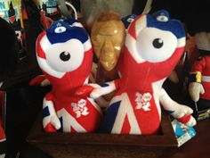 Wenlock and Mandeville, the mascots for the 2012 London Summer Olympics, haven't been so well-received, but Mr. Hunter didn't hold that against these plush toy Wenlocks when he met them at a shop in the United Kingdom pavilion at Epcot.  What do you think of London's Olympic mascots?  United Kingdom Pavilion, Epcot, Walt Disney World, Lake Buena Vista, Florida