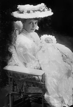 Crown Princess Cecilie of Prussia (née Grand Duchess of Mecklenburg), circa 1906.
