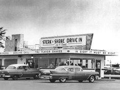 """""""Drive In!"""" (vintage Steak 'n Shake restaurant)"""