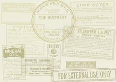Free Photoshop brushes - Vintage Labels