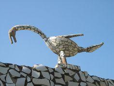 Outsider Art – Birds, Animals & Other Creatures – Mosaic Artist – Nek Chand – Chandigarh, India | Mosaic Art Source