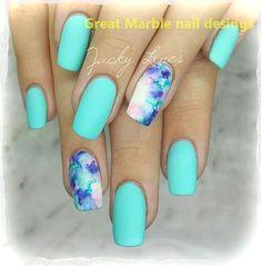 25 MÁRMOL Diseño de uñas CON AGUA Y Esmalte de uñas 1 #nails