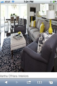 gray & yellow color palette