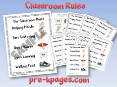 Classroom Rules for Pre-K and Kindergarten