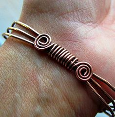 flat copper wire bracelet - Google Search