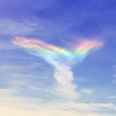 """Some people in South Carolina witnessed a rare """"fire rainbow"""" lighting up the sky on Sunday afternoon. The cloud formation appeared over the Isle of Palms, Fire Rainbow, Rainbow Light, Rainbow Cloud, Over The Rainbow, Angel Clouds, Sky And Clouds, Carolina Do Sul, South Carolina, Isle Of Palms"""