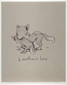 A mother's love. More Kurt Halsey amazingness <3