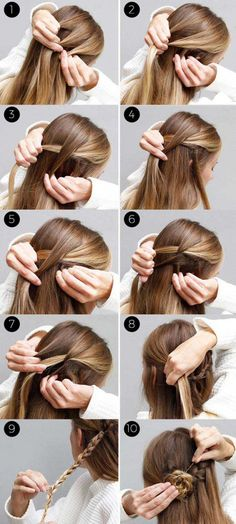 31 Amazing Half up-Half down Hairstyles For Long Hair - The Goddess : Amazing Ha. - 31 Amazing Half up-Half down Hairstyles For Long Hair – The Goddess : Amazing Half Up-Half Down H - Easy Braided Updo, Braided Half Up, Half Up Half Down Hair Prom, Wedding Hairstyles Half Up Half Down, Half Up Half Down Hair Tutorial, Half Ponytail, Braided Ponytail Hairstyles, Half Bun, Down Hairstyles For Long Hair