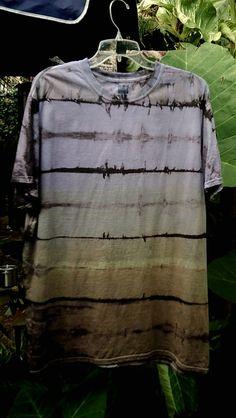 Mens XL Multicolor Shibori Landscape tie Dye by ArtAttackDiner, $10.00