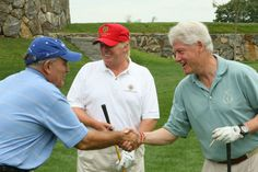 Usually it's Trump vs. Clinton, here we see Bill and Donald all buddy-buddy on the golf course. - 25 Never Before Seen Pictures of Bill & Hil