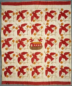 Ark and Dove   Quiltmaker: Russell, Harriet Lucinda Acker McDavid   [ca. 1860]  Briscoe Center for American History, University of Texas at Austin: Texas Sesquicentennial Quilt Association, Texas Quilt Search