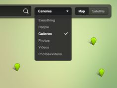 Dribbble - Map UI Elements by Keenan Wells