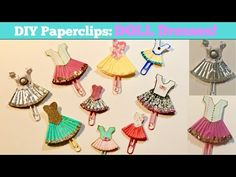 DIY Paper Clips: Doll Dresses for your Planner! - YouTube