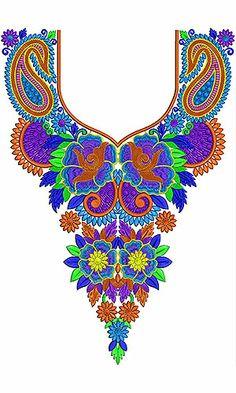 Bohemian Embroidery Neck Design