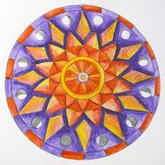 How to Draw a Mandala Using Grids on http://www.createmixedmedia.com
