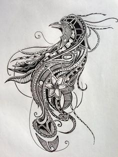 448b6d64b2c9f Polynesian Tattoo - Bird Of Paradise (Design II) by ~Jay-emm-aye on  deviantART #Tattoosonneck