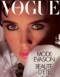 Isabelle Adjani on the cover of Vogue Paris