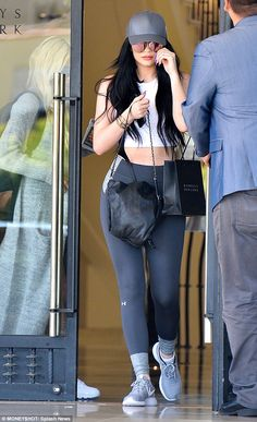 Kylie Jenner heads to shopping trip with Pia Mia in matte grey Ferrari #dailymail